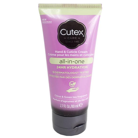 Cutex All-In-One 24Hr Hydration Hand & Cuticle Cream 2.7 fl oz - Citrus & Green Tea Fragrance