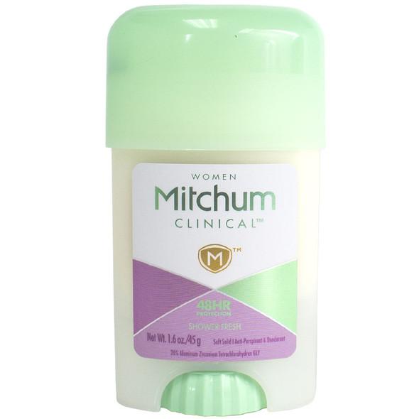 Mitchum Women Clinical Soft Solid Anti-Perspirant & Deodorant 1.6 oz - Shower Fresh