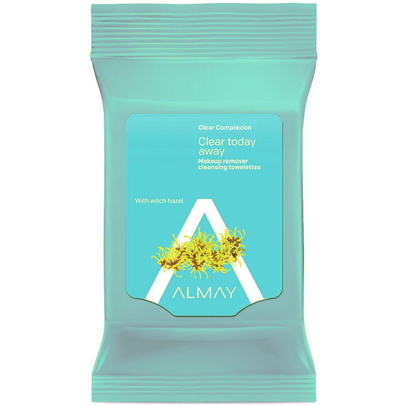 Almay Clear Complexion 4-in-1 Makeup Remover Cleansing Towelettes 25 ct