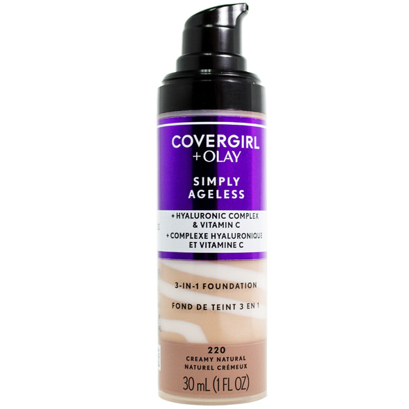 Cover Girl & Olay Simply Ageless 3-in-1 Liquid Foundation - 220
