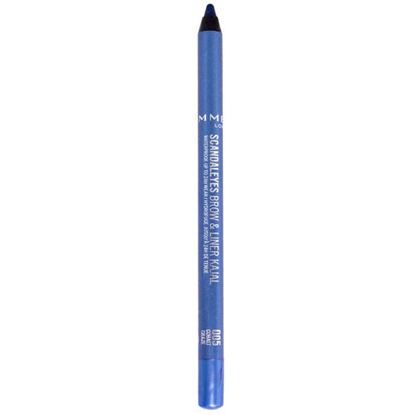 Rimmel Scandaleyes Waterproof Brow & Liner Kajal - 005 Cobalt Craze