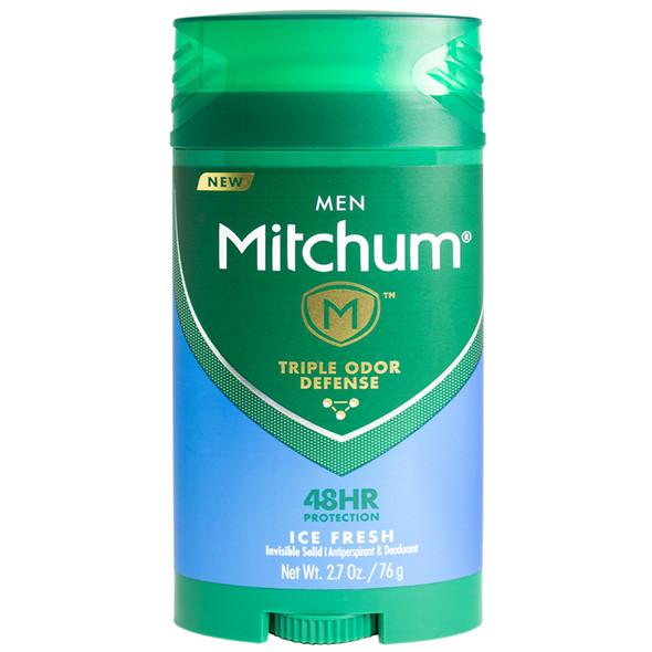Mitchum Men Triple Odor Defense Invisible Solid Antiperspirant & Deodorant, Ice Fresh 2.7 oz