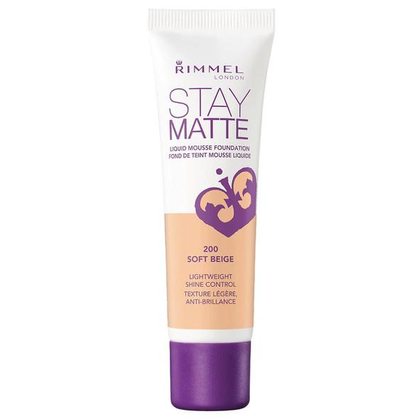 Rimmel Stay Matte Liquid Mousse Foundation - 200