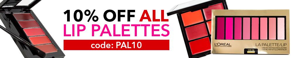10% Off Lip Palettes