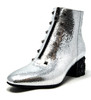 Guila Silver Leather Bootie
