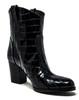 Luisa Western Croc Patent Black