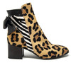 Ariana Leopard Zebra Bootie
