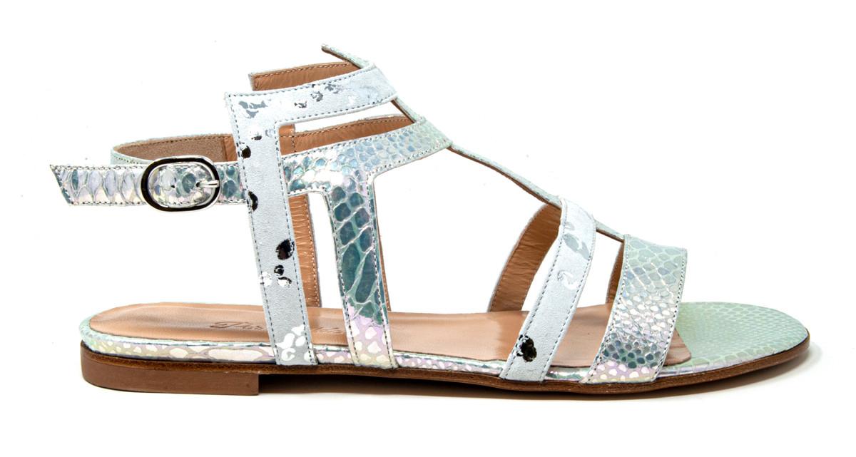 Lucero White Sandal