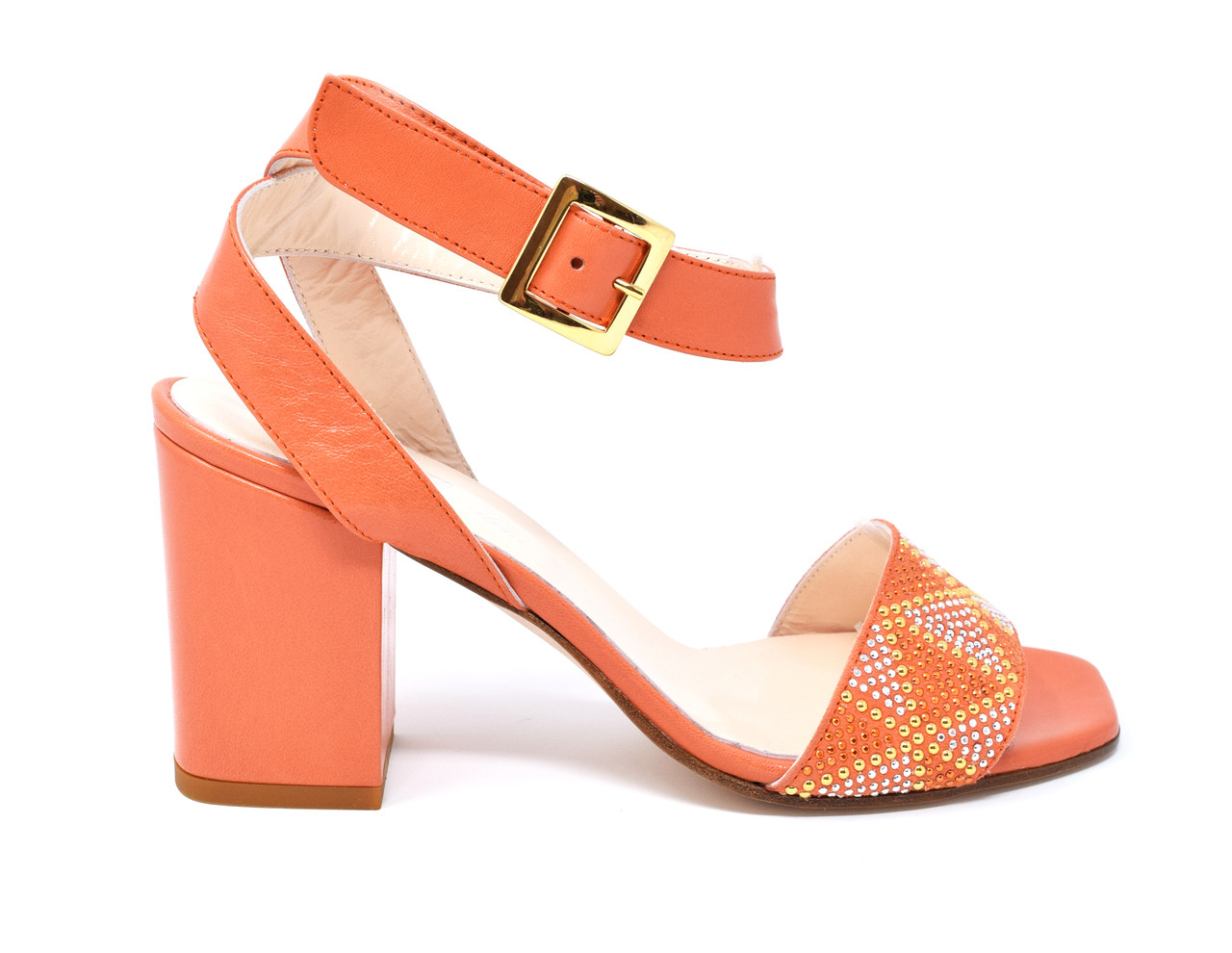 894631f4ce2c Clara - Block Heeled Sandals with Rhinestones