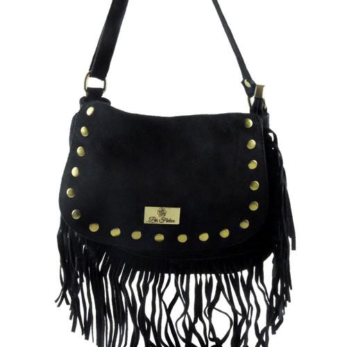 Nicia Italian Suede Handbag