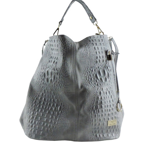 Sandra Leather Croc Handbag