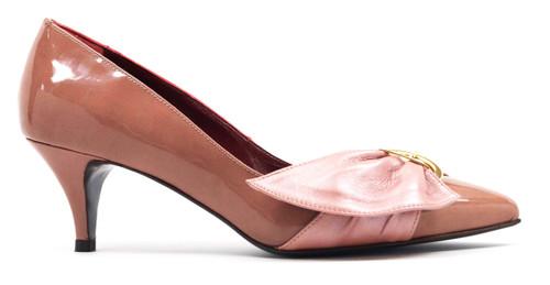 Editta - Leather Kitten Heels