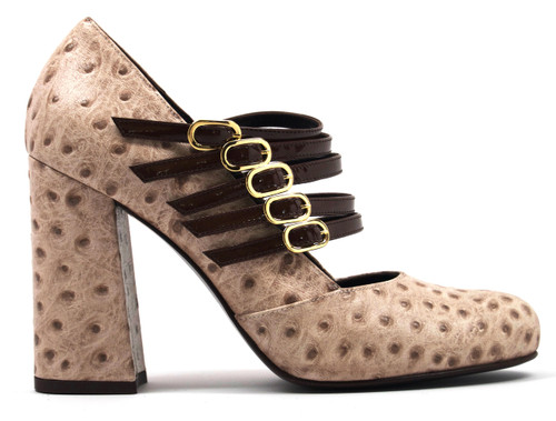 Gabriella - Ostrich Leather Shoes