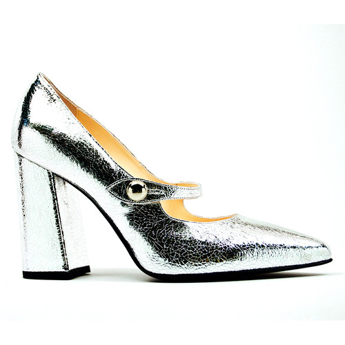 Gemma - Silver Pump Shoes