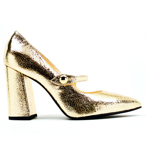 Gemma - Gold Pump Shoes