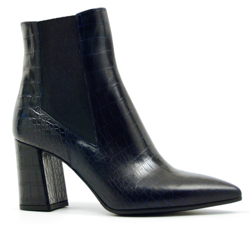 Catalina - Blue Croc Ankle Boots
