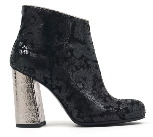 Gabriella - Floral Suede Ankle Boots