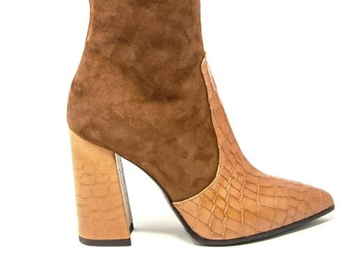 Kiara - Suede Croc Boots