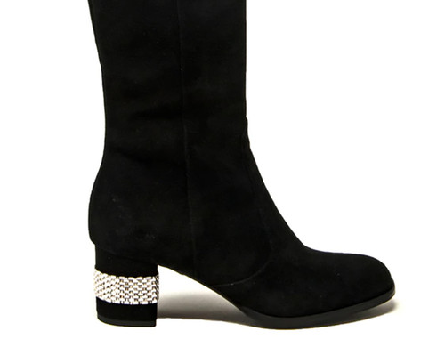 Lucia Suede Black Boot