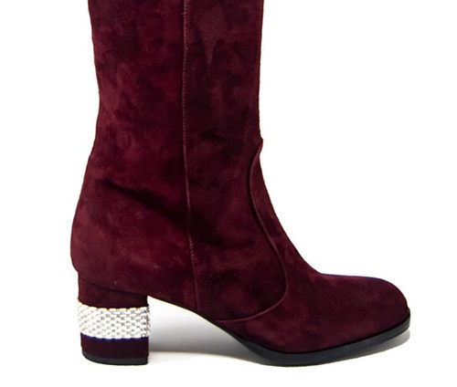 Lucia Suede Bordeaux Boot