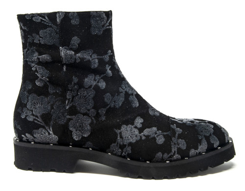 Lila Floral Combat Boot