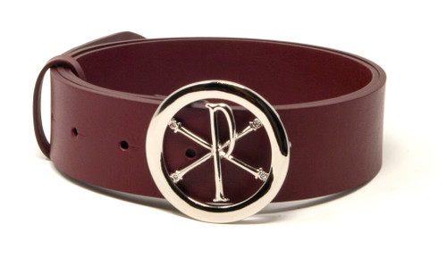 Leather Belts Silver Buckle