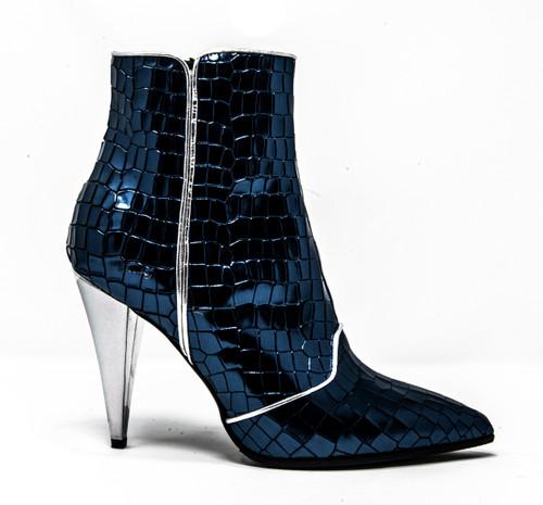 Cara Croc Bootie Blue