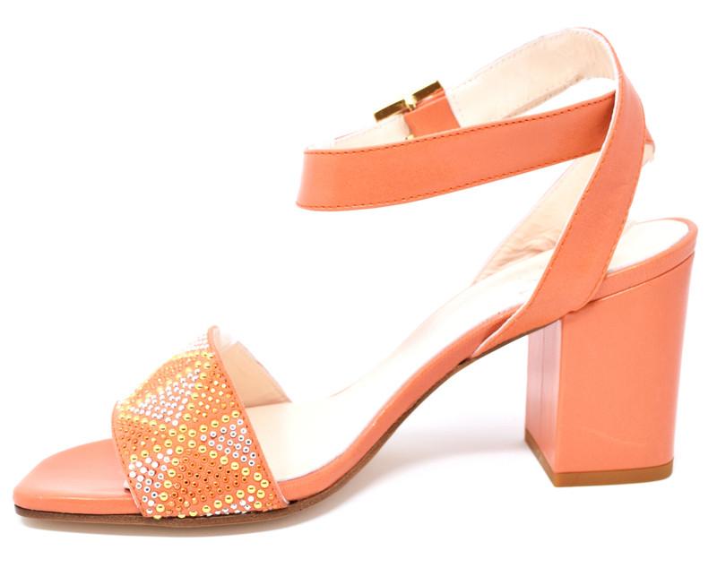 4127ef294b46 ... Clara - Block Heeled Sandals with Rhinestones ...