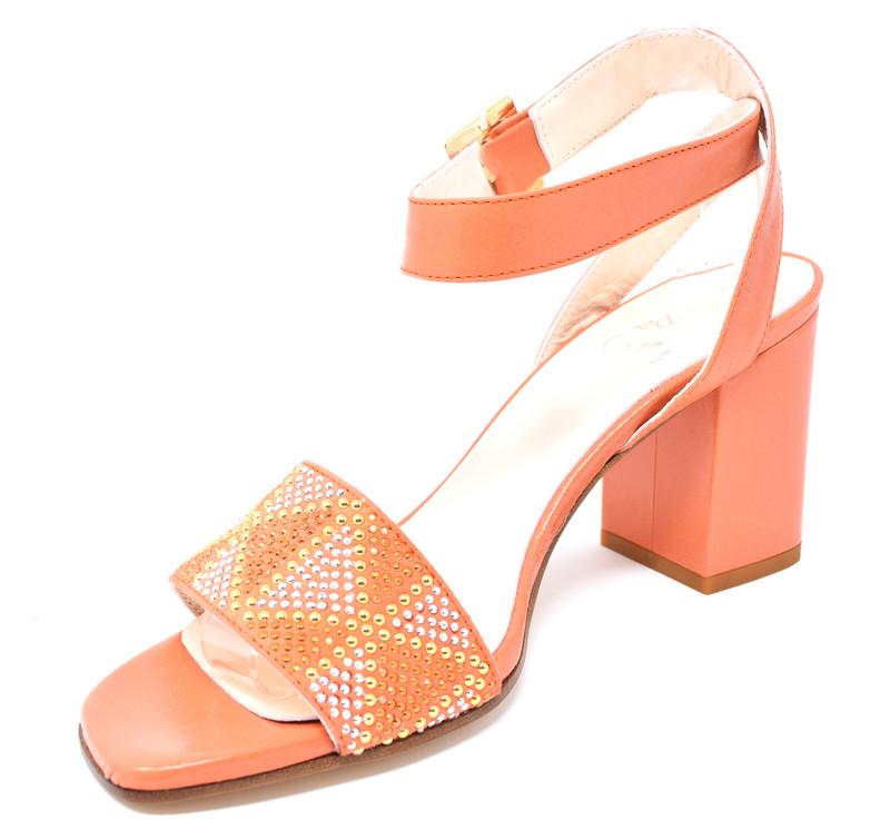 95abed34b33d ... Clara - Block Heeled Sandals with Rhinestones