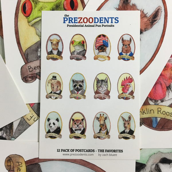 PreZOOdents Postcard 12-Pack
