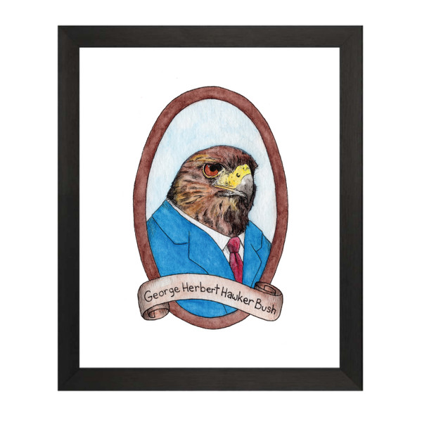 George Herbert Hawker Bush / George HW Bush PreZOOdents Art Print