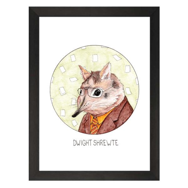 Dwight Shrewte / Dwight Schrute / The Office Petflix Art Print