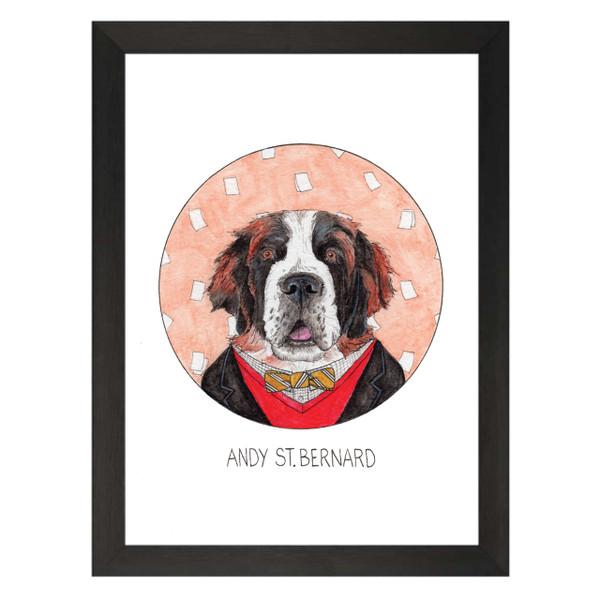 Andy St Bernard / Andy Bernard / The Office Petflix Art Print