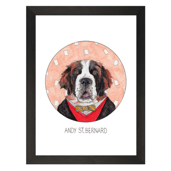 Andy St Bernard / Andy Bernard / The Office Petflix Art Print