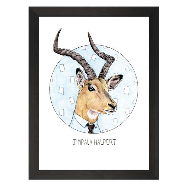 Jimpala Halpert / Jim Halpert / The Office Petflix Art Print
