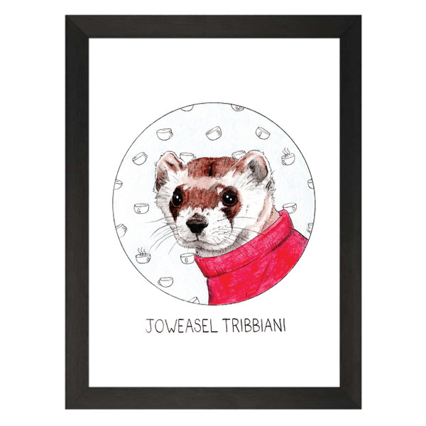 Joweasel Tribbiani / Joey Tribbiani / Friends Petflix Art Print