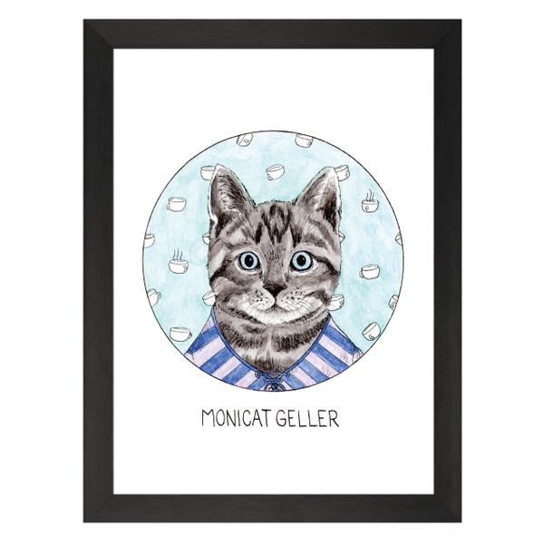 Monicat Geller / Monica Geller / Friends Petflix Art Print