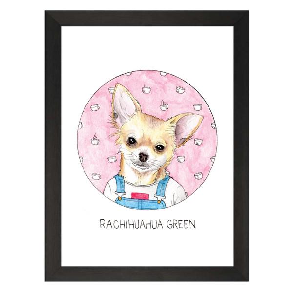 Rachihuahua Green / Rachel Green / Friends Petflix Art Print