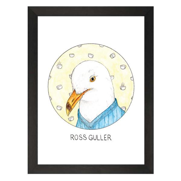 Ross Guller / Ross Geller / Friends Petflix Art Print