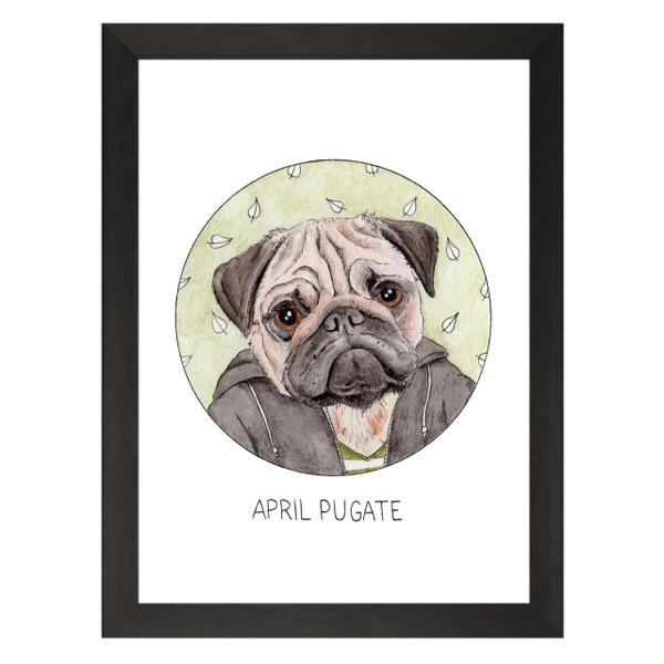 April Pugate / April Ludgate / Parks & Recreation Petflix Art Print