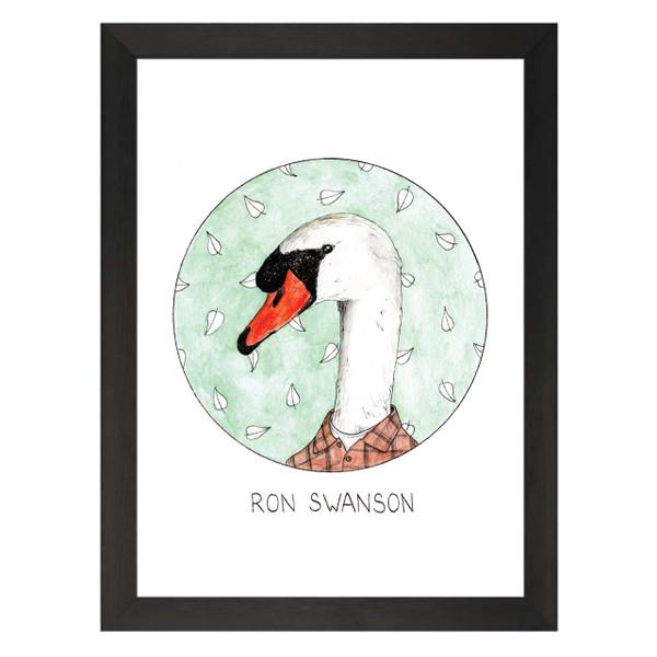Ron Swanson / Ron Swanson / Parks & Recreation Petflix Art Print