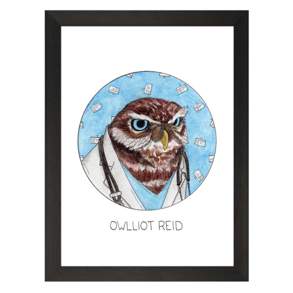 Owlliot Reid / Elliot Reid / Scrubs Petflix Art Print