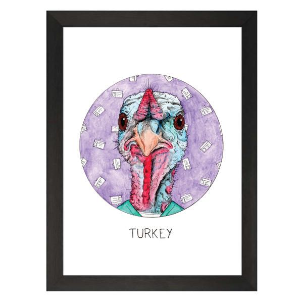 Turkey / Turk / Scrubs Petflix Art Print