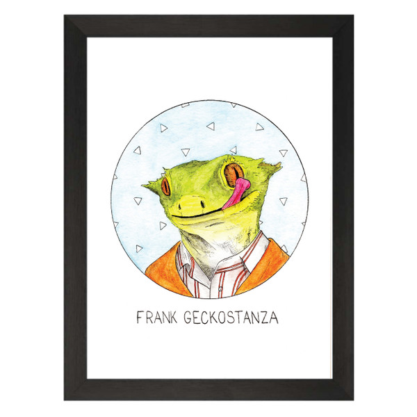 Frank Geckostanza / Frank Costanza / Seinfeld Petflix Art Print