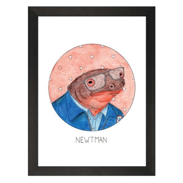 Newtman / Newman / Seinfeld Petflix Art Print