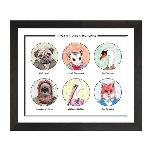 Parks & Recreation Petflix Group Art Print