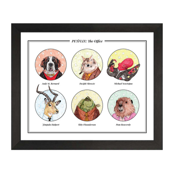 The Office Petflix Group Art Print