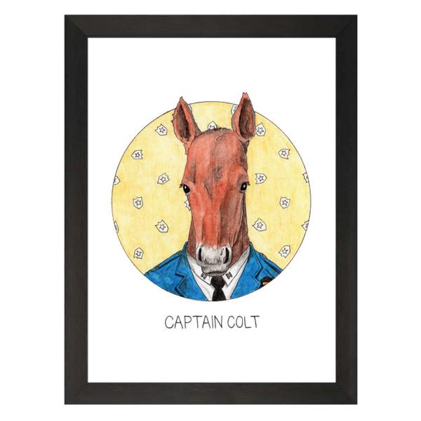 Captain Colt / Captain Holt / Brooklyn Nine-Nine Petflix Art Print