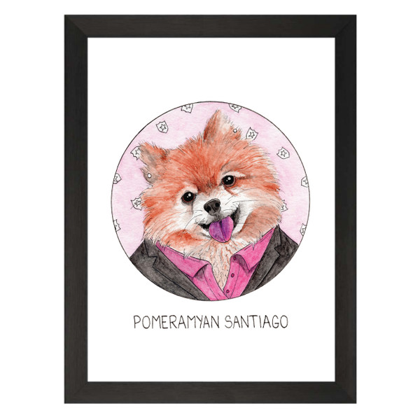 Pomeramyan Santiago / Amy Santiago / Brooklyn Nine-Nine Petflix Art Print