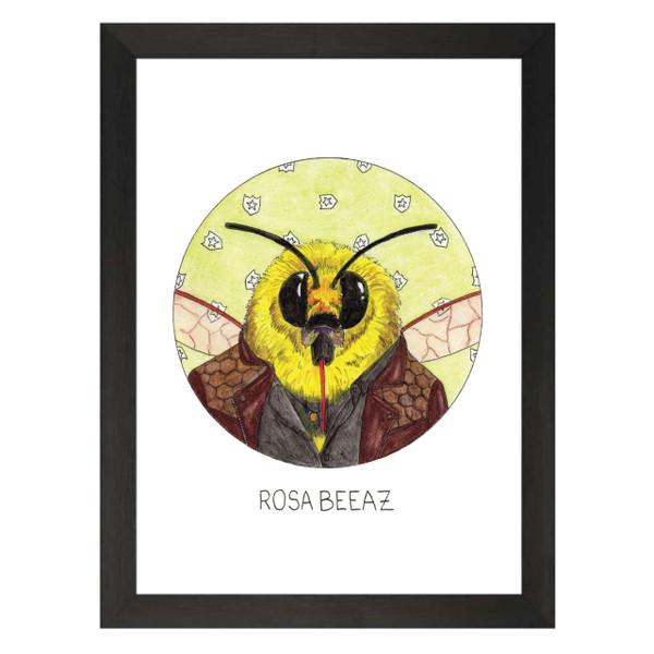 Rosa Beeaz / Rosa Diaz / Brooklyn Nine-Nine Petflix Art Print